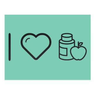 I vitaminas del gimnasta del corazón tarjetas postales