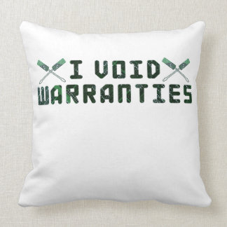 I Void Warranties Throw Pillow