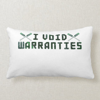 I Void Warranties Throw Pillows