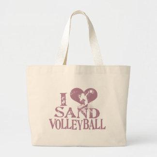 I voleibol de la arena del corazón bolsa