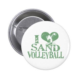 I voleibol de la arena del corazón pins