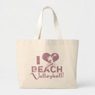 I voleibol de playa del corazón bolsas