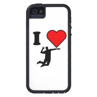 I voleibol del corazón iPhone 5 Case-Mate fundas