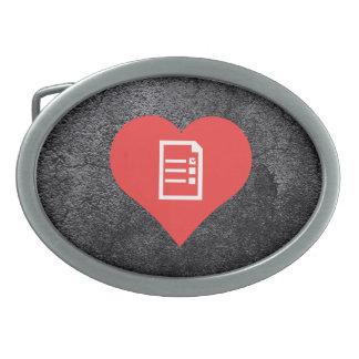 I votaciones de votación del corazón hebilla cinturon oval