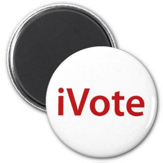 I Vote 2 Inch Round Magnet