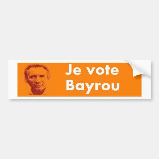 I vote bayrou bumper sticker