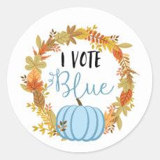 I VOTE BLUE Gender Reveal Baby Shower Game Labels