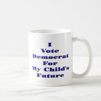 I Vote Democrat Classic White Coffee Mug
