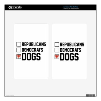 I Vote Dogs Decals For Kindle Fire