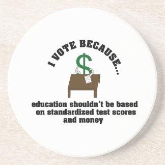 I Vote Education Coaster