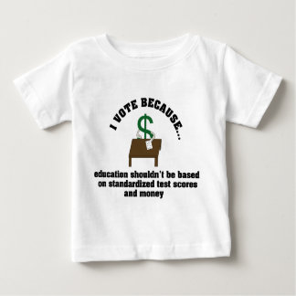 I Vote Education Infant Shirt