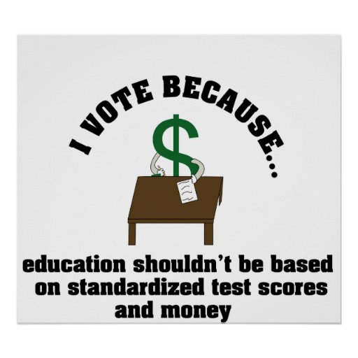 I Vote Education Poster
