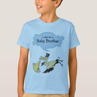 I Vote for a Baby Brother Gender Reveal Party T-Shirt