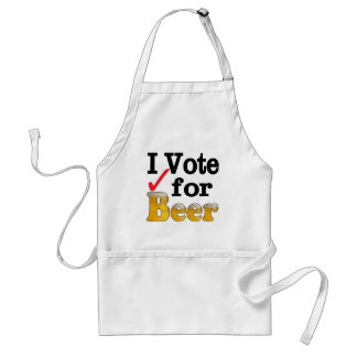 I Vote for Beer Adult Apron