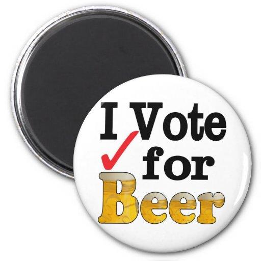 I Vote for Beer Refrigerator Magnet