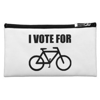 I Vote For Bicycle Makeup Bag