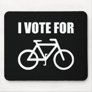 I Vote For Bicycle Mouse Pad