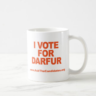I Vote For Darfur Mug