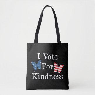 I Vote For Kindness Tote Bag