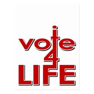 I Vote For Life Postcard