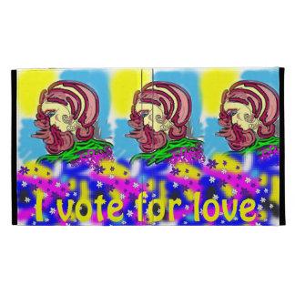 I vote for love iPad folio cases