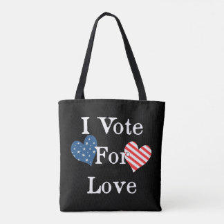 I Vote For Love Tote Bag
