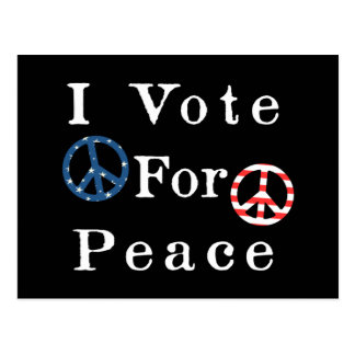 I Vote For Peace Postcard