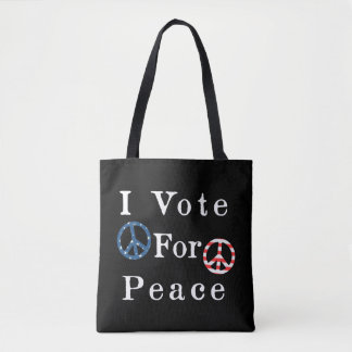 I Vote For Peace Tote Bag
