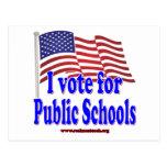 I Vote for Public Schools Postcard