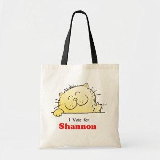 I Vote For Shannon Tote Bag