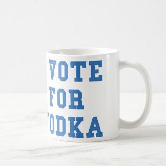 I Vote For Vodka Classic White Coffee Mug