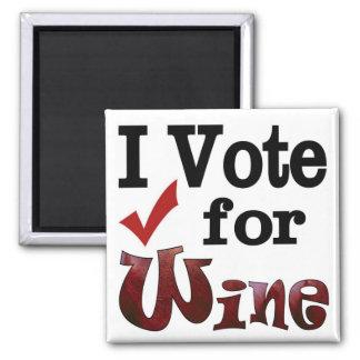 I Vote for Wine Refrigerator Magnets