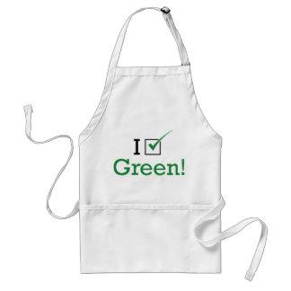 I Vote Green Adult Apron