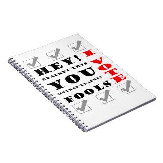 I Vote! Notebook
