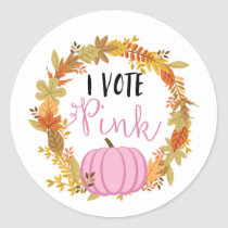 I VOTE PINK Gender Reveal Baby Shower Game Labels