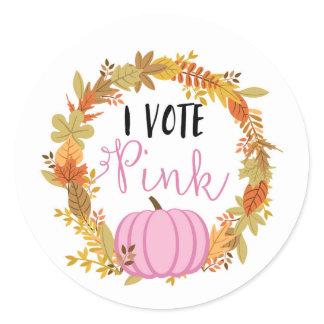 I VOTE PINK Gender Reveal Baby Shower Game Labels