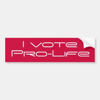 I vote Pro-Life bumper sticker