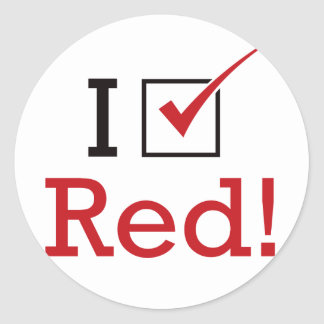 I Vote Red Stickers