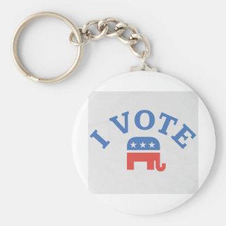 I Vote Republican Keychain