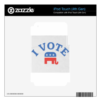 I Vote Republican iPod Touch 4G Skins