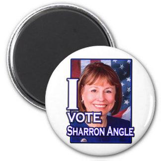 I Vote Sharron Angle 2 Inch Round Magnet