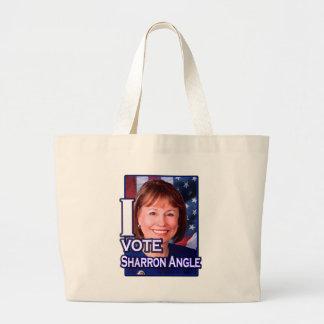 I Vote Sharron Angle Large Tote Bag