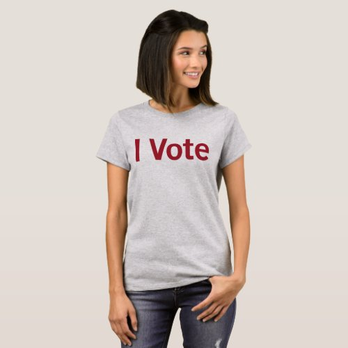 I Vote T_shirt _ WRed Text