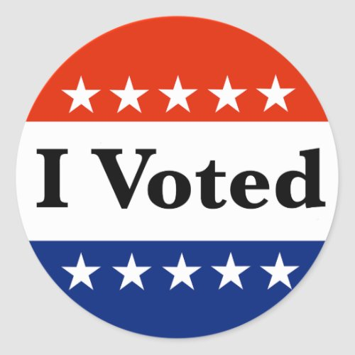 I Voted 2020 Elections Classic Round Sticker