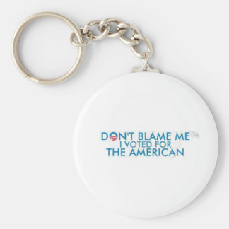 I voted American Basic Round Button Keychain