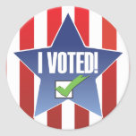 I Voted! Badge Sticker