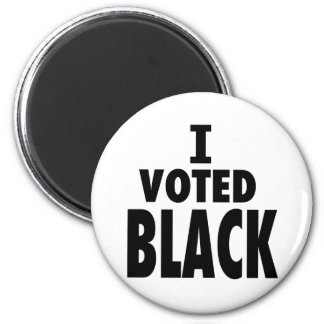 I Voted Black, Obama wins gifts 2 Inch Round Magnet