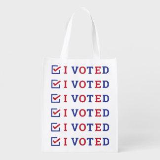I Voted Checkmark Reusable Grocery Bag