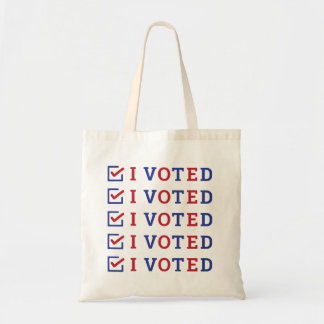 I Voted checkmark Tote Bag