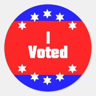 I Voted Classic Round Sticker